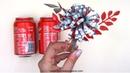 Cómo hacer flores con latas de refresco de cola
