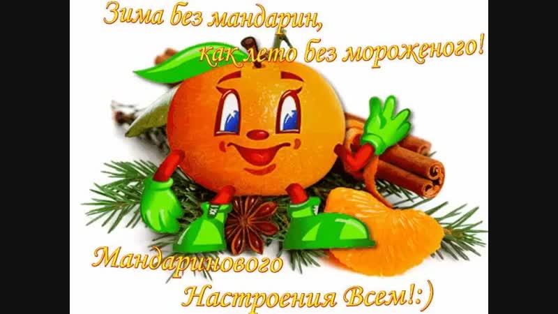 С каждой съеденной мандаринкой мы приближаемся к новому году Не сиди без дела ешь мандаринки