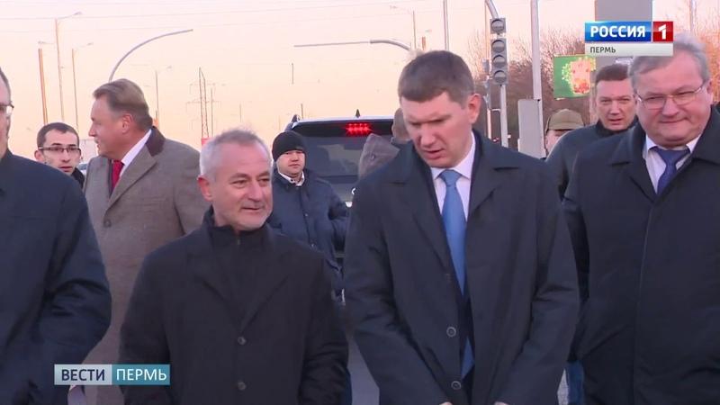 Открывшийся участок ул Героев Хасана инспектировал губернатор