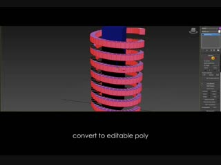How to wrap a helix around geometry in 3ds Max