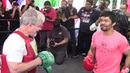 Manny Pacquiao Explosive Mitt Workout With Freddie Roach For Adrien Broner Fight. HoopJab Boxing