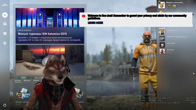 Волчонок с дооообрыми глазами начинает играть Counter-Strike: Global Offensive