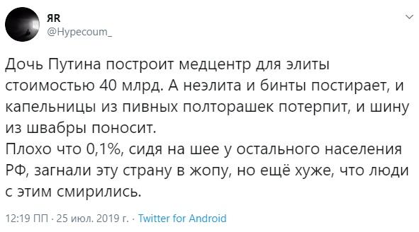 Медики на тюремных матрасах, а у Путина всё хорошо