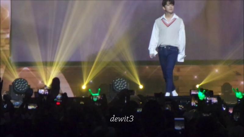 170902 Youngjae ft Daehyun Talk Love Ost DOT Music Bank in Jakarta Fancam
