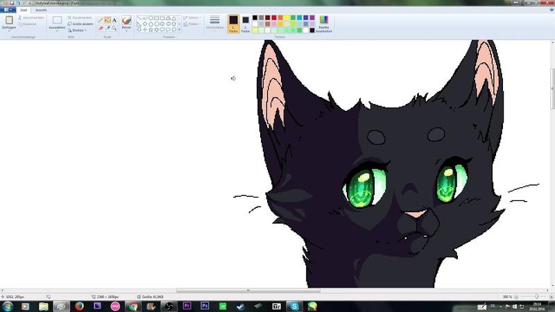 SPEEDPAINT [Warrior Cats] ~Hollyleaf ~ [MS Paint] [HD]