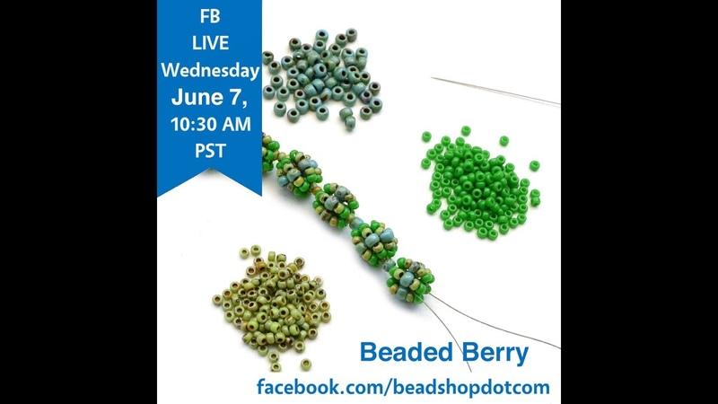 FB Live beadshop.com Beaded Berry Chain