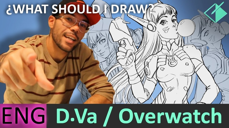 Drawing D.va From Overwatch _ Jesus Conde