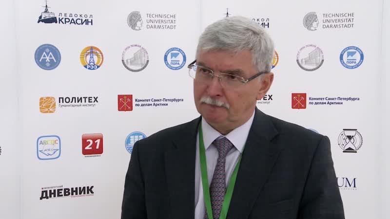 Д.т.н., профессор, зав.кафедрой «Возобновляющиеся источники энергии и гидроэнергетика» СПбПУ В.В.Елистратов на конференции