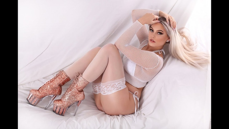 White Fishnet Top Nylon Stockings Pleaser Adore 7 Inch Rose Gold Glitter Ankle Boots