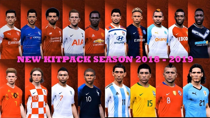 Kit Pack New Season 2018 2019 V4 HD AIO | PES 2017