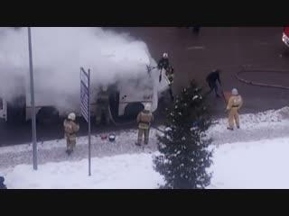Возгорание автобуса на улице Ленина. Курск