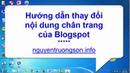 Hướng dẫn thay đổi nội dung chân trang Blogspot - nguyentruongsonfo
