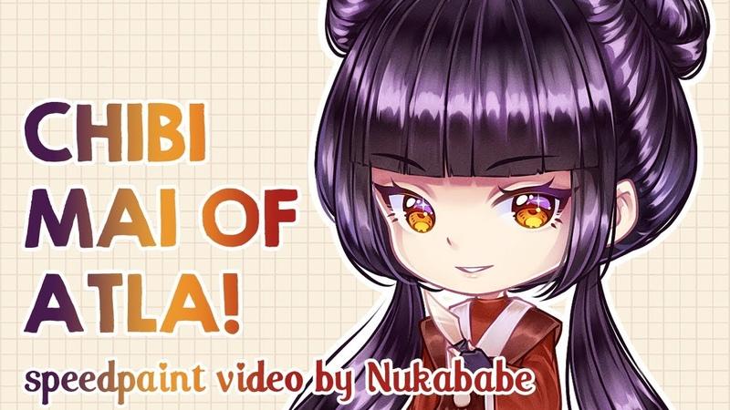 Chibi Mai of Avatar: The Last Airbender | Speedpaint by Nukababe
