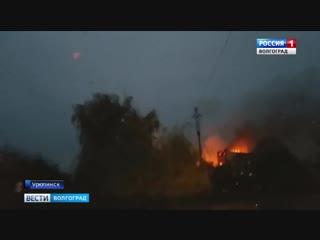 В Урюпинске сгорел склад маслозавода