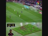Командный гол Барселоны в Эль-Класико