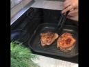 Стейк из мяса свинины с гарниром из картошки по-деревенски   Больше рецептов в группе Кулинарные Рецепты
