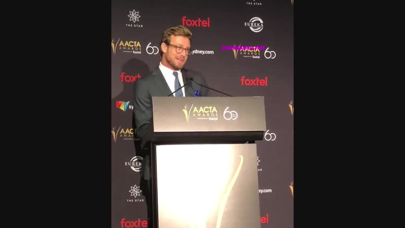 Simon Baker at the AACTA Awards 2018