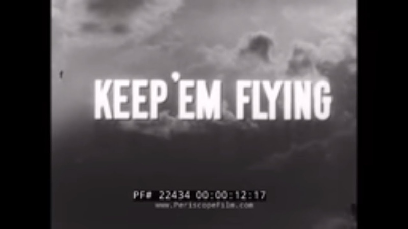 U.S. ARMY AIR FORCE TECHNICAL COMMAND KEEP EM FLYING WWII JOB PLACEMENT FILM 22434