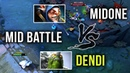Dendi Tiny vs Midone Meepo Mid Battle of TITANS Dota 2