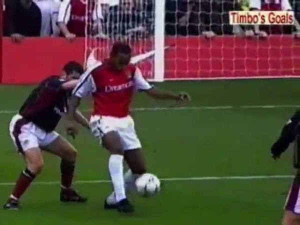 Henry Amazing ever Goal - Arsenal vs Manchester United