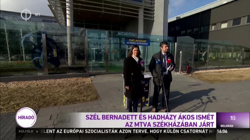 Szél Bernadett és Hadházy Ákos ma is a közmédia vendégszeretét élvezte