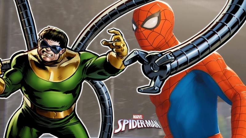2 НОВЫЙ ЧЕЛОВЕК-ПАУК встреча с ОСЬМИНОГОМ. Прохождения игры Marvels Spider-Man летсплей PS4