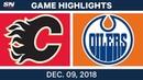 NHL Highlights | Flames vs. Oilers - Dec 9, 2018
