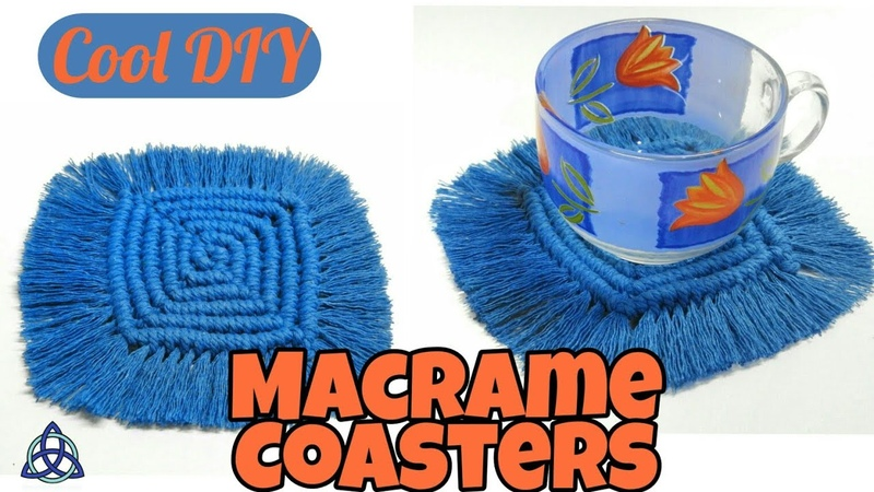 DIY Macrame Coasters COOL and EASY Table Mat Decoration Ideas
