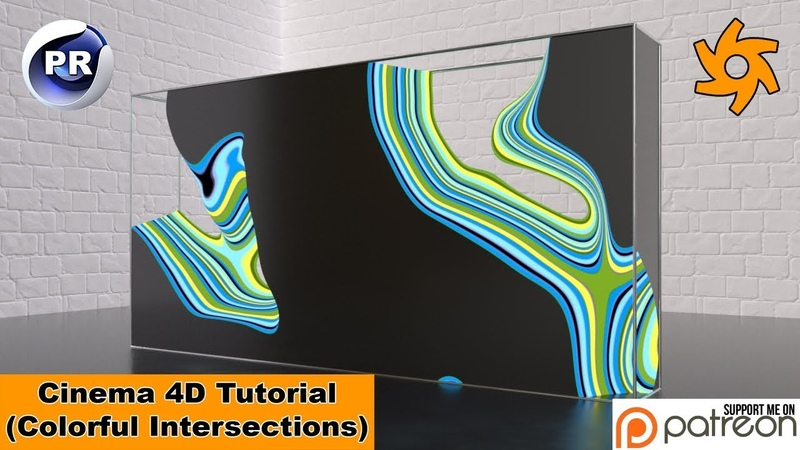 Colorful Intersections (Cinema 4D Tutorial)