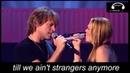 Bon Jovi -Till We Ain't Strangers Anymore ft Leann Rimes Live (lyrics)