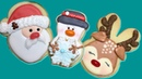 Classic Christmas Cookie designs with Jelly Belly noses - Make Santa, Rudolph Snowman cookies