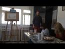 Арт Дегустация рисуем Ван Гога одной ручкой