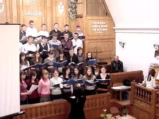 Молодежный хор г. Бельцы (Молдова) в Гайсине 24.04.2010