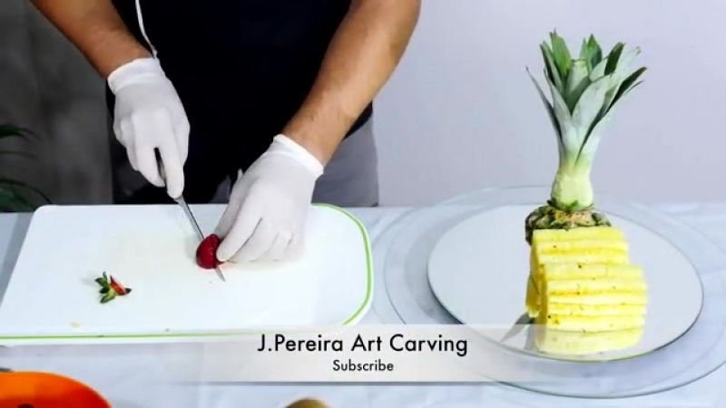 How to CUT FRUIT correctly for FRUIT CENTER PIECE - By J Pereira Art Carving Fruits and Vegetables.mp4