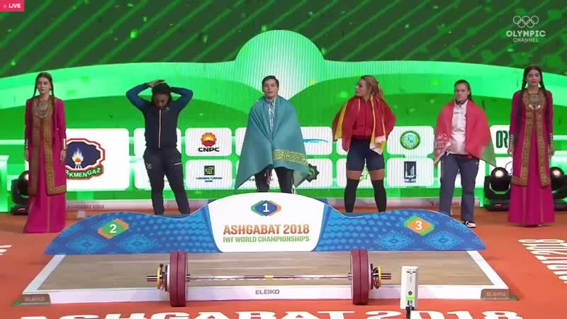 Дарья Наумова (BLR) - Women 81kg, IWF World Championships, Ashgabat 2018