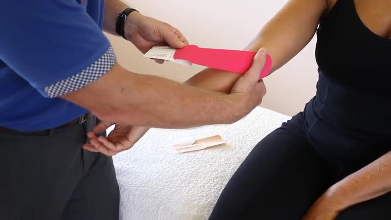 How to treat Golfers Elbow _ Ulna Nerve - Kinesiology Taping