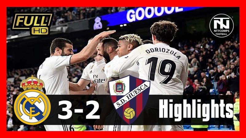 Real Madrid vs Huesca 3-2 - All Goals Extended Highlights - 2019