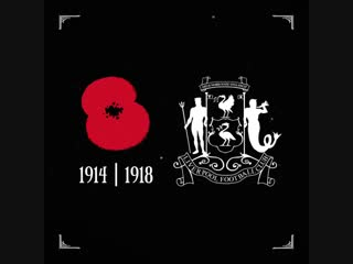In memory of the Liverpool FC players who served in the First World War. #ThankYou100 #LestWeForget