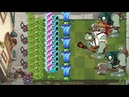 Snow Pea and Melon Pult vs All Zombies - Plants vs Zombies 2