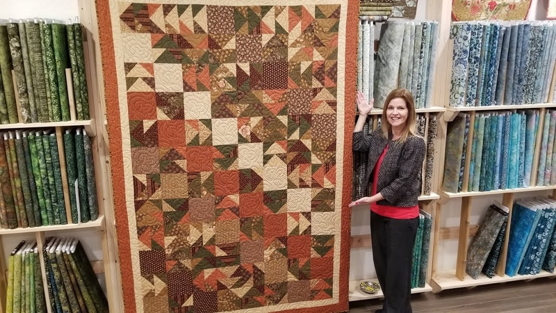 Donna's FREE PATTERN Scrappy Flying Geese Quilt Kaleidoscope Christmas Giveaway!