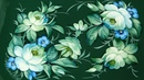 Композиция от двух углов, Жостовская роспись маслом