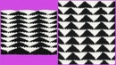 Узор треугольники тунисским крючком Мастер класс вязания крючком Crochet pattern