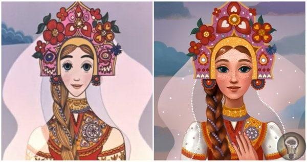 ХУДОЖНИЦА ПЕРЕРИСОВАЛА СОВЕТСКИХ ПРИНЦЕСС В СОВРЕМЕННОМ СТИЛЕ Художница из России Светлана Кузнецова перерисовала принцесс из советских мультиков в современном стиле. Светлана рассказала, что ее