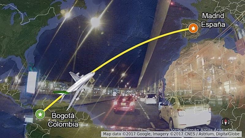 Recorrido Bogota Madrid Paris