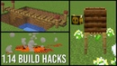 1 14 Minecraft Build Hacks