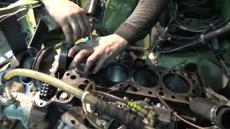 Замена поршневых колец на Мерседесе W123 ,ч №2 сборка