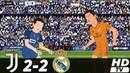 🔥 Ювентус – Реал Мадрид 2-2 (Анимация) - Обзор Матча Лиги Чемпионов 05/11/2013 HD 🔥