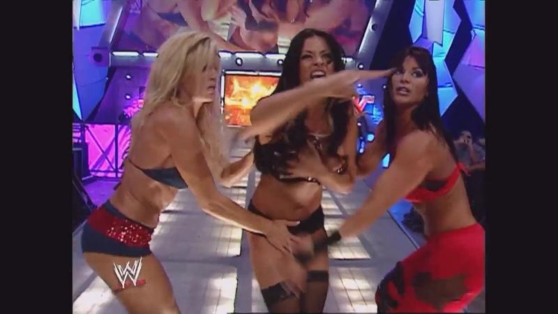 Trish Stratus, Torrie Wilson, Candice Michelle, Ashley Victoria Segment: Raw, Sept. 26, 2005