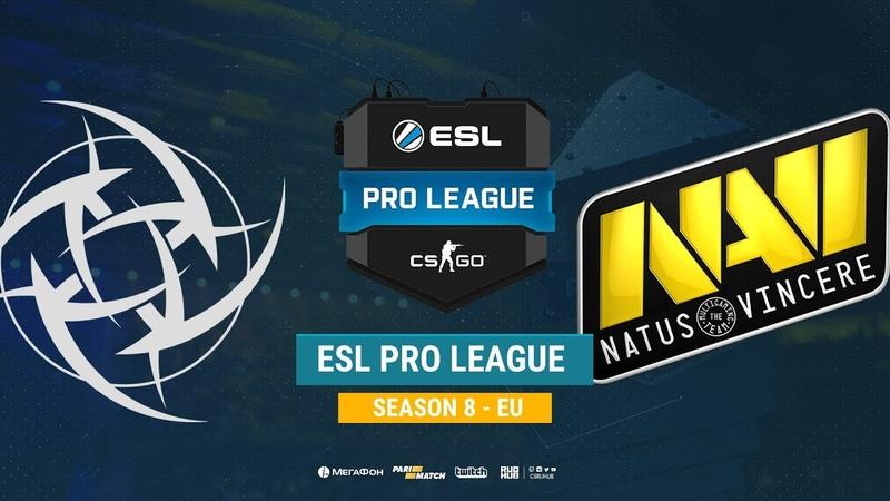 NiP vs Na`Vi ESL Pro League S8 EU bo1 de inferno CrystalMay Anishared
