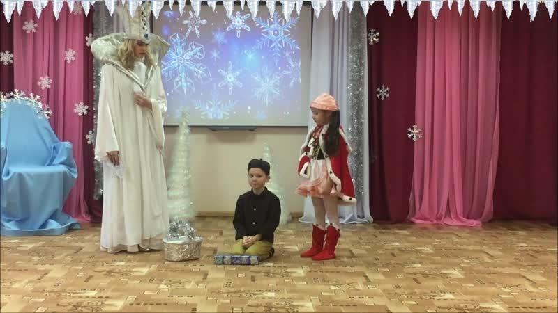 Театральная постановка Снежная королева Детский сад №7